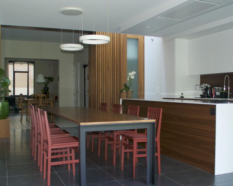 Cuisine salle à manger vers le salon