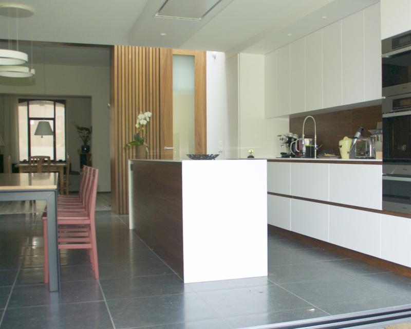Cuisine salle à manger depuis la terrasse