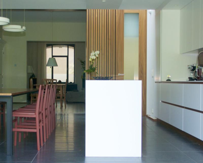 Cuisine salle à manger vers enfilade salon
