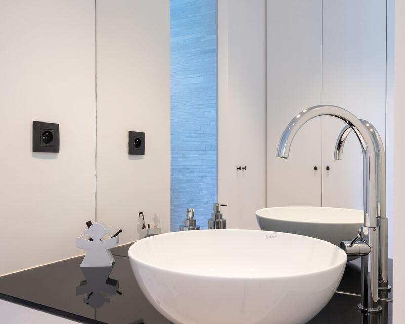 salle-de-douche: détail du meuble lavabo
