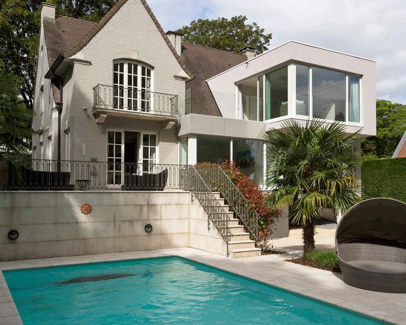 extension contemporaine maison traditionnelle bj94 humatraffin. Black Bedroom Furniture Sets. Home Design Ideas