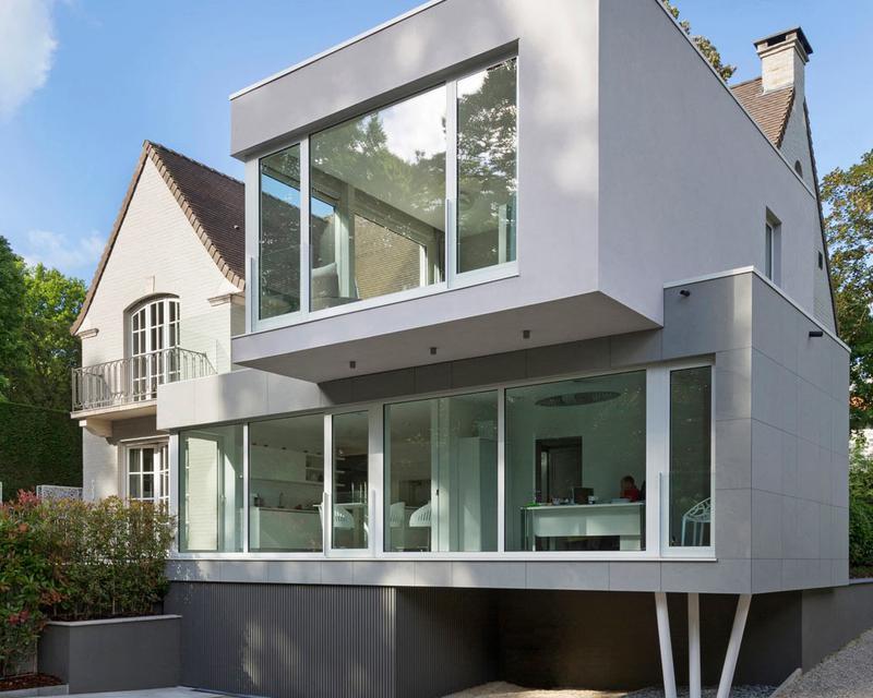 Extension contemporaine d 39 une maison prince d 39 orange for Annexe maison moderne