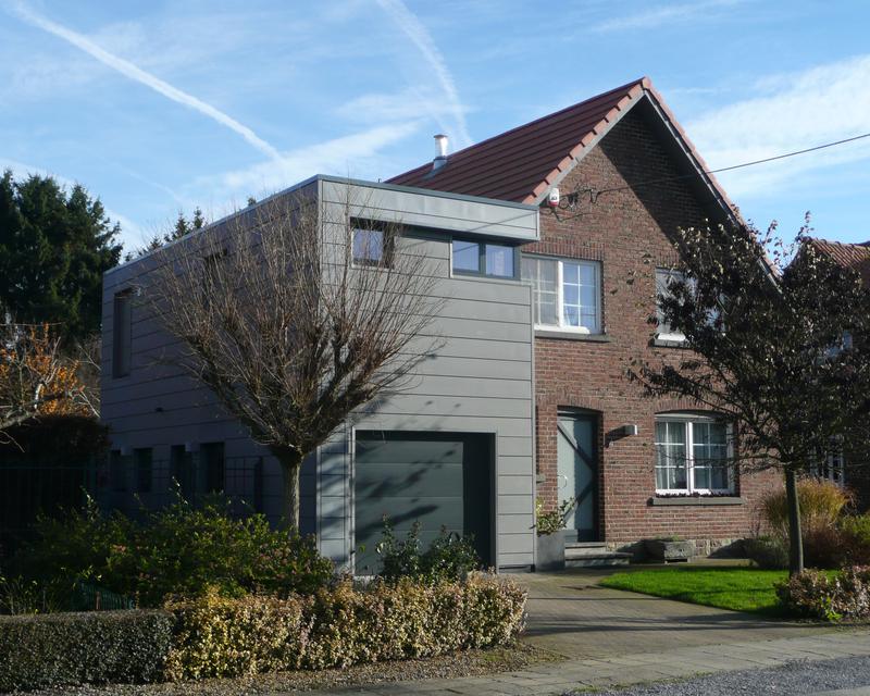 Extension et rehausse d une habitation unifamiliale le for Extension habitation